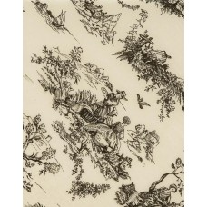 Black on Oatmeal Toile Tissue Paper, 20 x 30\