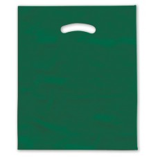 Dark Green Die-Cut Handle Bag, 9 x 12\