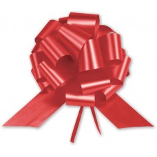 Red Satin Perfect Pull Bows, 18 Loops, 4\