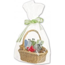 Clear Basket Bags, 22 x 25\