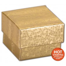 Gold Foil Embossed Jewellery Boxes, 2 x 1 1/2 x 5/8\