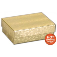Gold Foil Embossed Jewellery Boxes, 3 x 2 1/8 x 1\