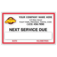 FC Removable Adhesive Labels - Next Service Due (Imprinted/CC1890A)
