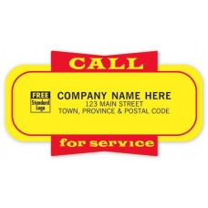 Call For Service Labels (Imprinted/CC346)