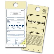Camping Permit Mirror Tags (Duplicate/2-Parts)