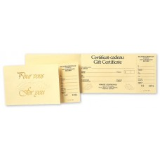 Bilingual Gift Certificates - Embossed - Ivory with Foil (Original/1-Parts)
