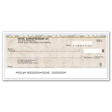 PERSONAL CHEQUE-FESTOON FRENCH (Original/1-Parts)