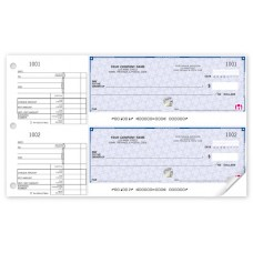 High Security 2-To-A-Page Cheques - 22 Security Features (Duplicate/2-Parts)